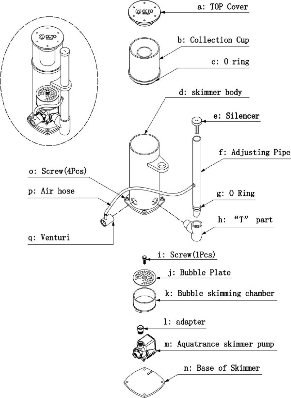 Protein Skimmer diagram