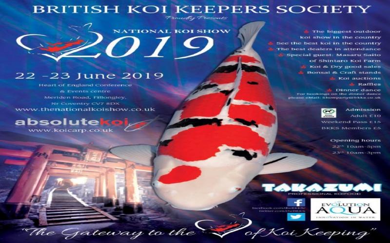 Evolution Aqua are main sponsors for BKKS National Koi Show 2019